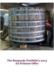 The Burgundy Portfolio's 2014 En Primeur Offer