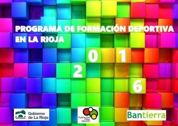 PROGRAMA DE FORMACIÓN DEPORTIVA EN LA RIOJA