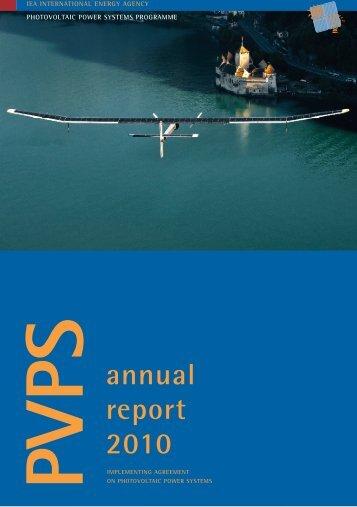 PVPS annual report 2010 - Australian Solar Institute