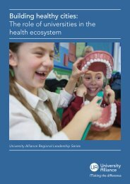 Building healthy cities The role of universities in the health ecosystem