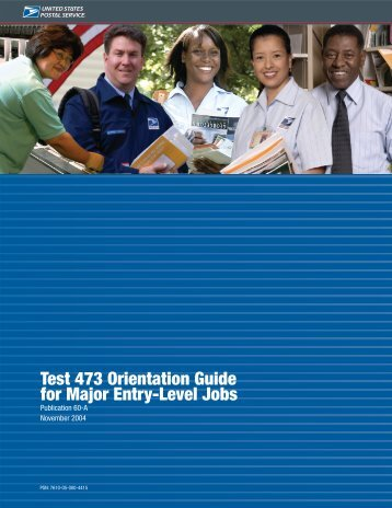 Publication 60A - Test 473 for Major Entry-Level Jobs
