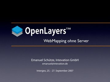 Was kann OpenLayers? - Smart Map Browsing