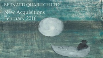 New Acquisitions February 2016