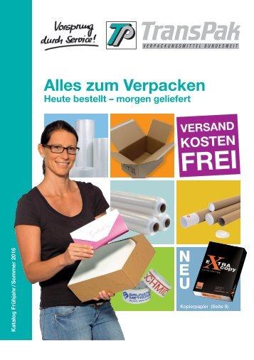 TransPak Verpackungsmittel Katalog Frühjahr/ Sommer 2016