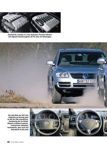 VW Touareg V6 gegen Porsche Cayenne V6 KLEINE RIESEN Seit ...