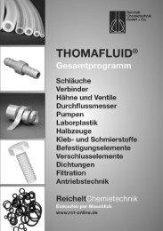 RCT Reichelt Chemietechnik GmbH + Co. - Alle Kataloge