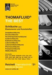 RCT Reichelt Chemietechnik GmbH + Co. - Thomafluid THE BEST Schläuche