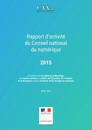 du Conseil national du numérique 2015