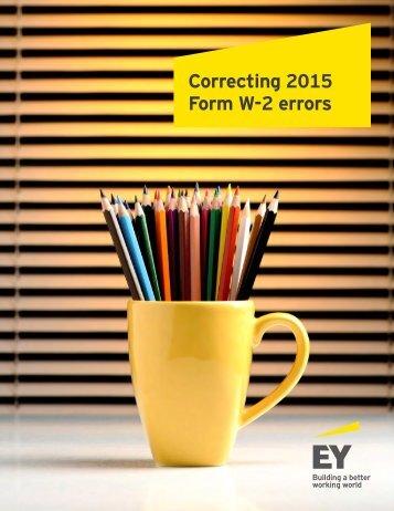 Correcting 2015 Form W-2 errors