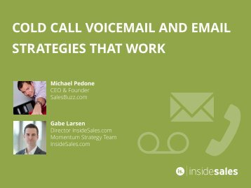 COLD CALL VOICEMAIL AND EMAIL STRATEGIES THAT WORK