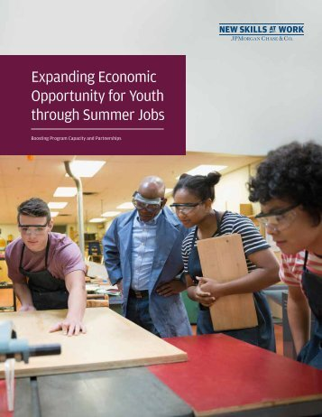 Expanding Economic Opportunity for Youth through Summer Jobs