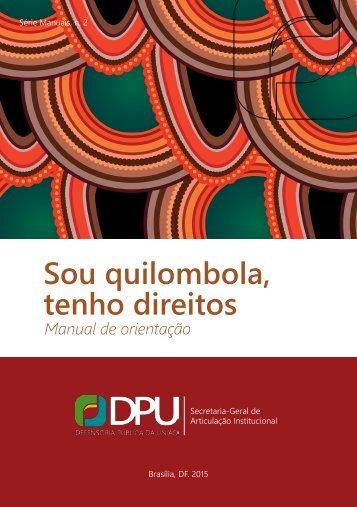 Sou quilombola tenho direitos