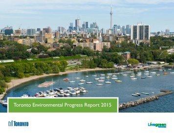 Toronto Environmental Progress Report 2015