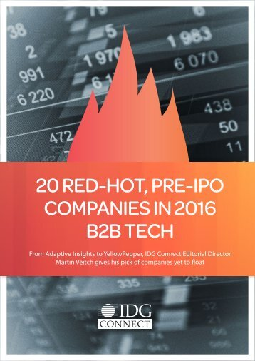 20 RED-HOT PRE-IPO COMPANIES IN 2016 B2B TECH