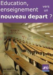 Education enseignement nouveau depart ?