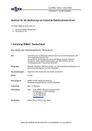 Seminar für die Bedienung von Industrie-Siebdruckmaschinen I ...