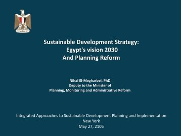 Egypt's vision 2030 And Planning Reform
