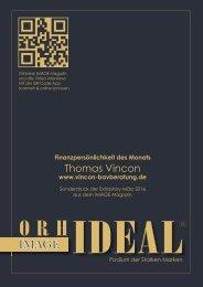 Thomas Vincon Sonderdruck der Extrastory aus Orhideal IMAGE Magazin März 2016