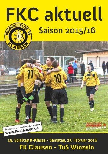 FKC Aktuell - 19. Spieltag - Saison 2015/2016
