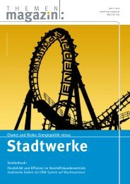 Stadtwerke Gießen, Referenzbericht, Themenmagazin 3-2015