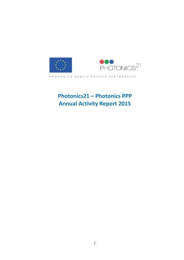 Photonics21 Annual Report - Final