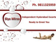 Romantic Hyderabad Escorts Services for Dating Enjoyment