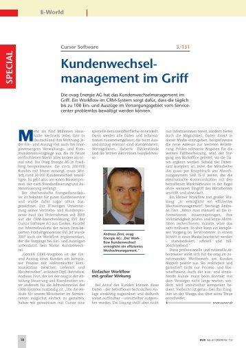 ovag Energie AG, Kundenwechselmanagement, Referenzbericht, BWK 1/2-2009