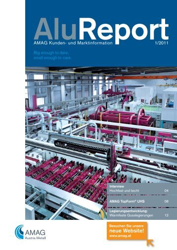 Download gesamter Alu Report 1/2011 - Austria Metall AG
