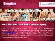 VIP Bangalore Escorts Services, Dazzling Escorts in Bangalore - Neha Oberai