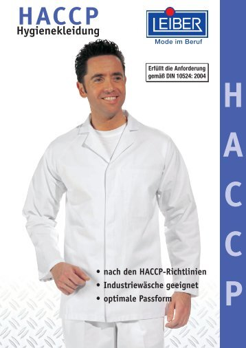 Leiber HACCP Hygienekleidung - Hoffmann Arbeitsschutz