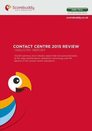 CONTACT CENTRE 2015 REVIEW