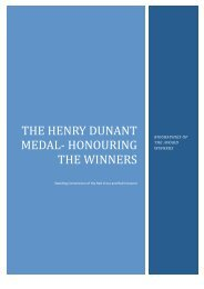 The Henry Dunant Medal Winners Biographies 18 February 2016