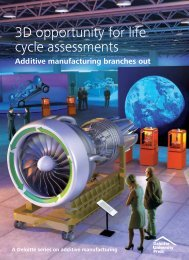 3D opportunity for life cycle assessments