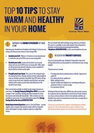 TOP 10 TIPS TO STAY WARM AND HEALTHY IN YOUR HOME