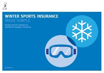 WINTER SPORTS INSURANCE MADE SIMPLE