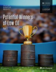 Potential Winners of Low Oil
