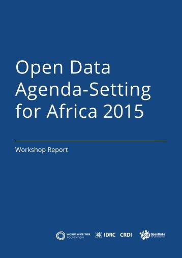 Open Data Agenda-Setting for Africa 2015