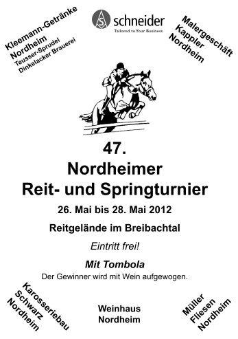 47. Nordheimer Reit- und Springturnier - FN-Veranstaltungsmanager