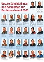 Unsere Kandidatinnen und Kandidaten zur ... - IG Metall