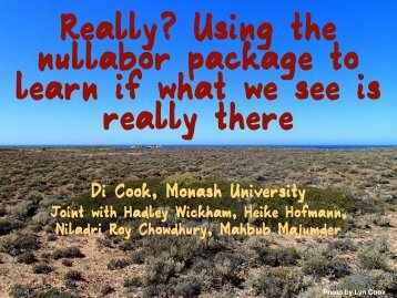 Really? Using the nullabor package to learn if what we see is really there