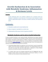 Erectile Dysfunction & Its Link With Metabolic Syndrome, Inflammation & Hormone Levels
