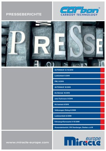 PRESSEBERICHTE - Miracle Panel Repair System