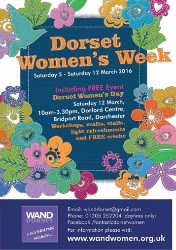 Welcome to our Dorset Women's Week 2016 Programme
