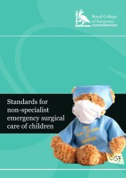 Standards for non-specialist emergency surgical care of children
