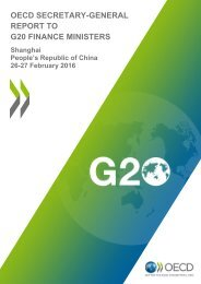 OECD SECRETARY-GENERAL REPORT TO G20 FINANCE MINISTERS