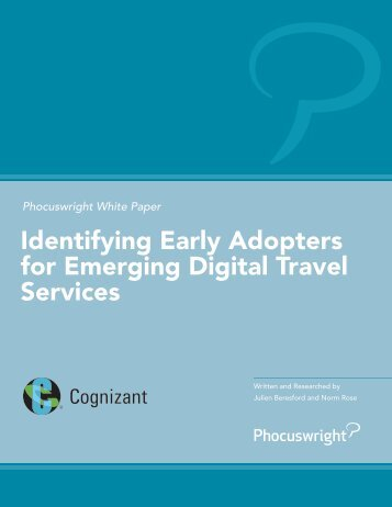 Identifying Early Adopters for Emerging Digital Travel Services
