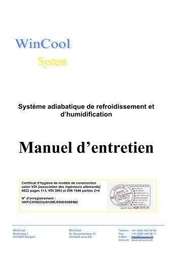 Système adiabatique de refroidissement et d ... - WinCool
