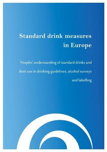 Standard drink measures in Europe
