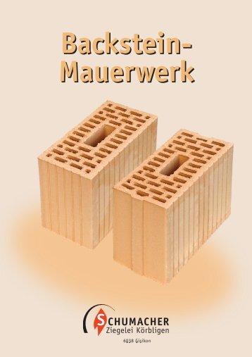 Backstein- Mauerwerk - Ziegelei Schumacher