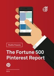 The Fortune 500 Pinterest Report